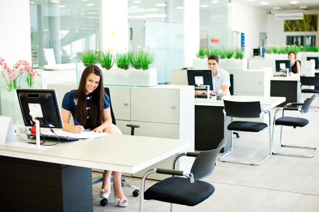 Modernt kontorslandskap