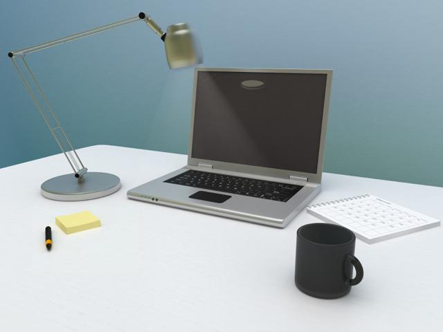 Skrivbord bärbar dator